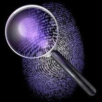 magnify glass over fingerprint
